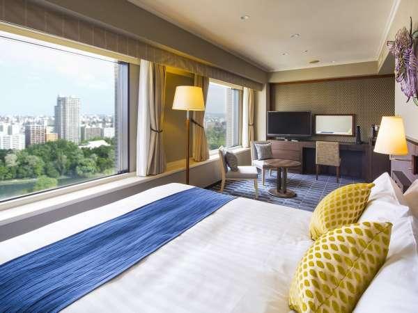 【デラックスダブル】 (ベッド幅160㎝)お部屋はゆったり33.4㎡ ★人気のパークビュールーム
