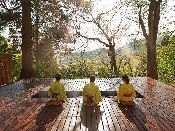 【森林温泉「足湯」】ここにしかない贅沢時間をお楽しみください。
