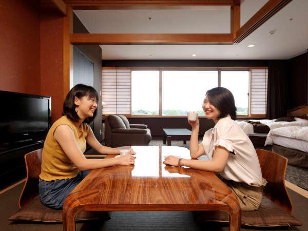 <部屋>和洋室 セミスイート (48㎡)ご友人やご家族などグループ旅行に最適!