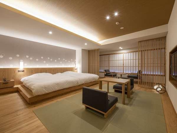 2019年OPENの新客室、Aタイプ。シンプルでスタイリッシュな近代的和室です。