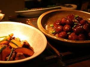 素朴な和風テイストの調理法で手作りしたお料理。(夕食)