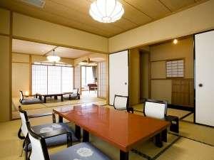 ゆとりの間取り 贅沢な空間 特別室(10+9+8)畳3間続き