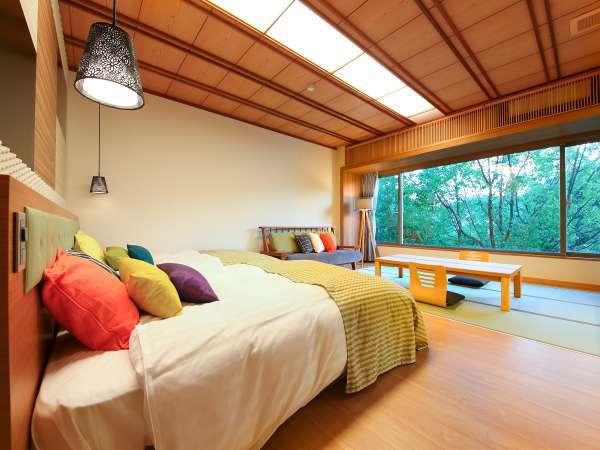 リニューアルした敷島和洋室快適さと清潔感あふれる客室です。