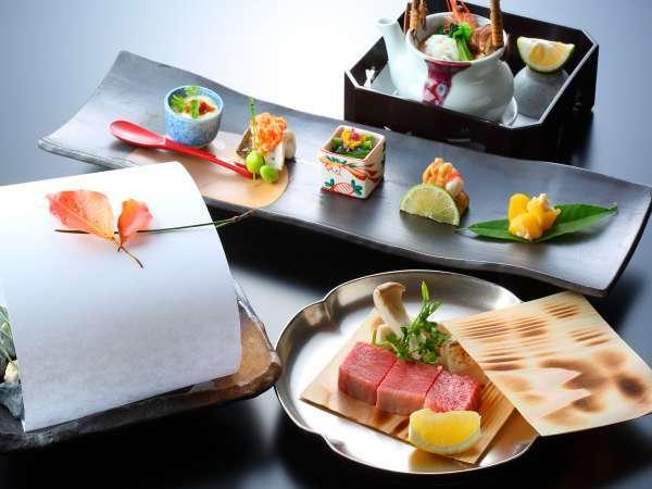 4等級以上ブランド佐賀牛付の会席料理が人気。中でも高評価の料理長おすすめ会席がプラン売上第一位。