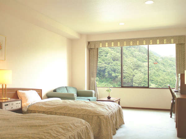 【客室「洋室一例」】ベッドでお休みになりたいお客様に…