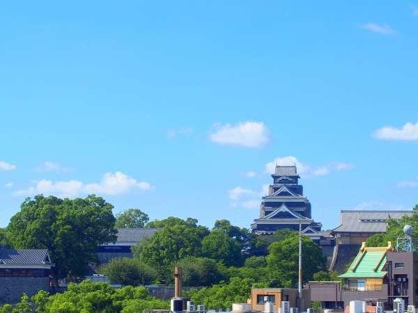 ◆ホテルからの眺望◆ホテルから見える熊本のシンボル熊本城です