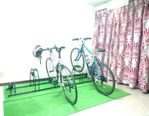 高額自転車も安心! 屋内駐輪場
