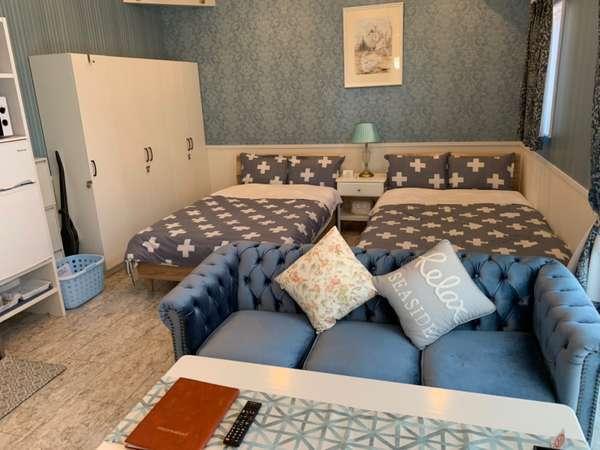 お部屋は2階建て。お風呂はワクワクのジャグジーバス♪♪