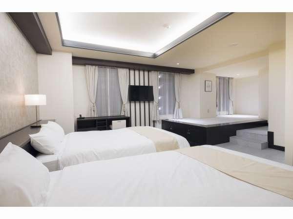 EN Suite with Spa space(ベッド幅140cm×2台)