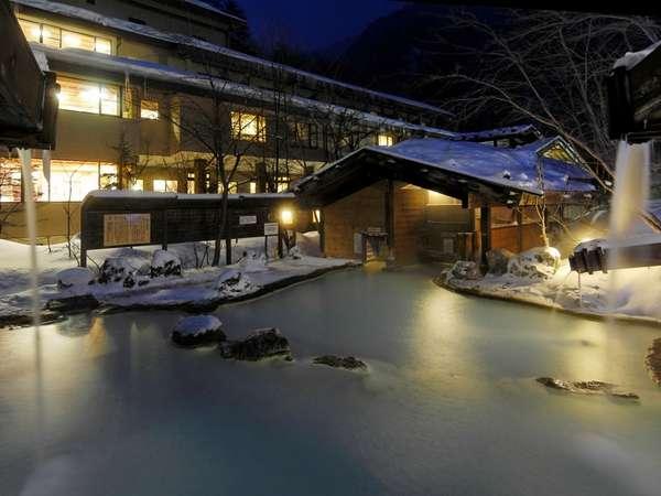 幻想的な冬の夜…いつまでも入っていたい