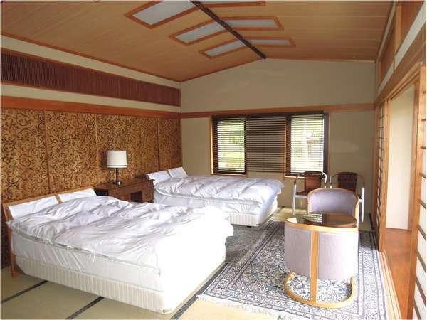 1階17畳の和洋室(例)全部で5室の客室がある貸別荘を1棟貸しきりでご利用いただけます!