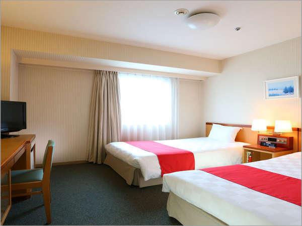 ツインルーム☆「18平米ベッド幅110cm」