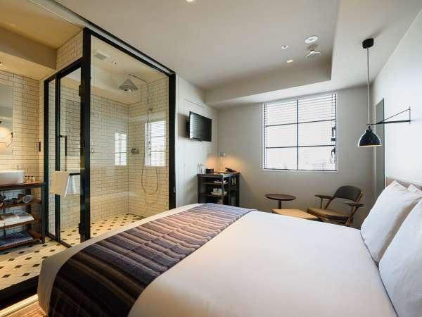 ダブル(キングベッド)レインシャワーのみ(16.68㎡)ベッド幅180cm