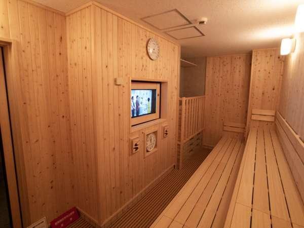 【大浴場】男女大浴場にはサウナを完備しております。