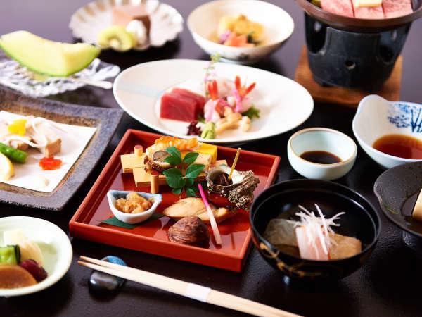 *【夕食(一例)】 旬の料理の数々をご提供いたします。