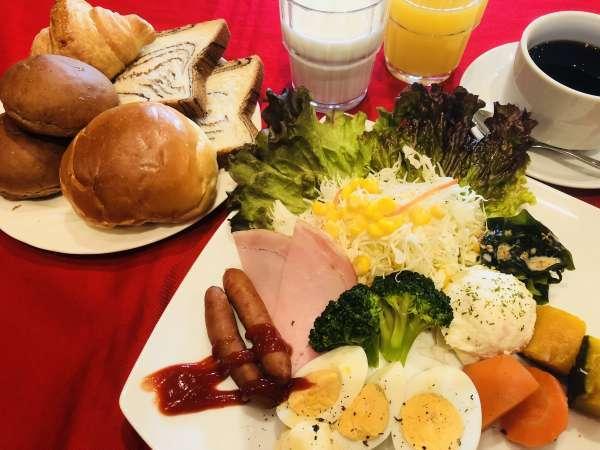 朝食ビュッフェ 洋朝食盛り付け例