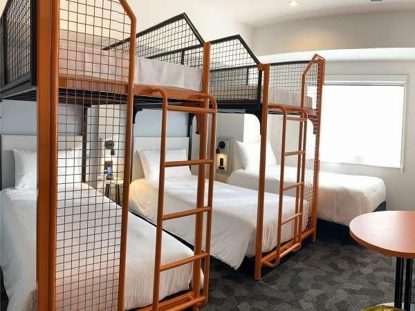 スーペリア5ベッドのお部屋は、ご友人同士やご家族での滞在にコストパフォーマンスが優れています♪