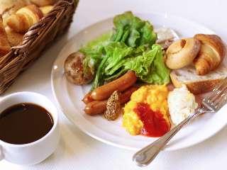 ご朝食例(アメリカンブレックファストのセルフサービス)