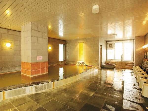 【大浴場】温泉はナトリウム・マグネシウムなどを含み疲労回復や筋肉痛に効果を発揮します!