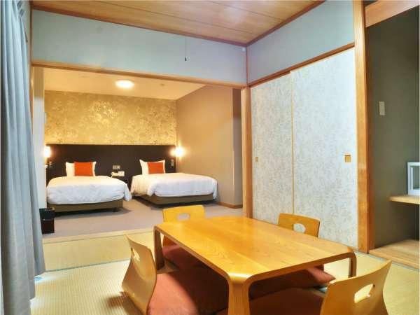 和洋室の一例。洋室と和室の両方をご利用いただけます。