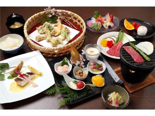 【和会席料理】地元の旬の食材で丁寧に調理致します。