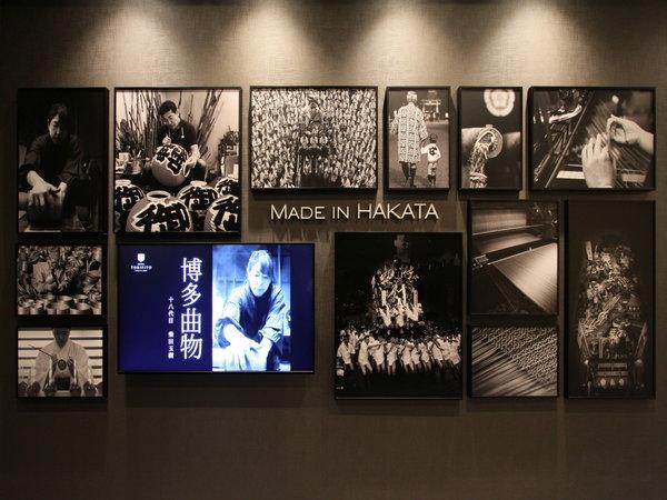 【エレベーターホール】博多の伝統工芸師たちです。