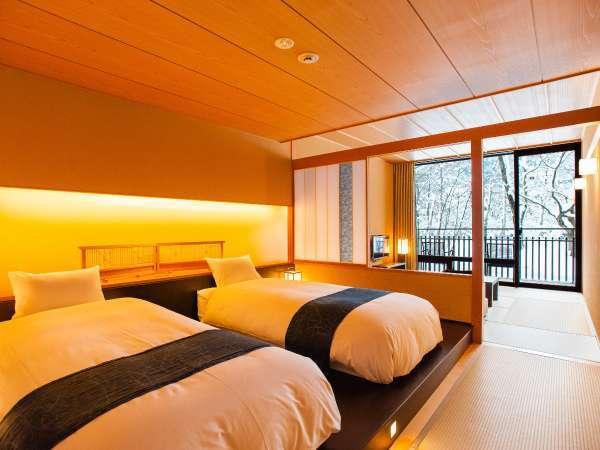 【客室イメージ】全室に森へとひらけた開放的なテラスを備えています