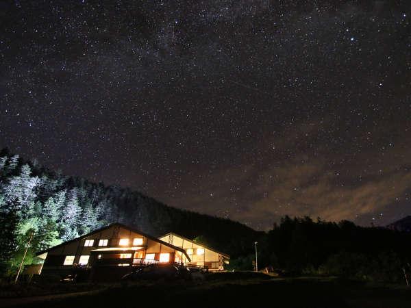 晴れた日の夜は一歩外に出るだけで降り注ぐような星空がご覧いただけます。