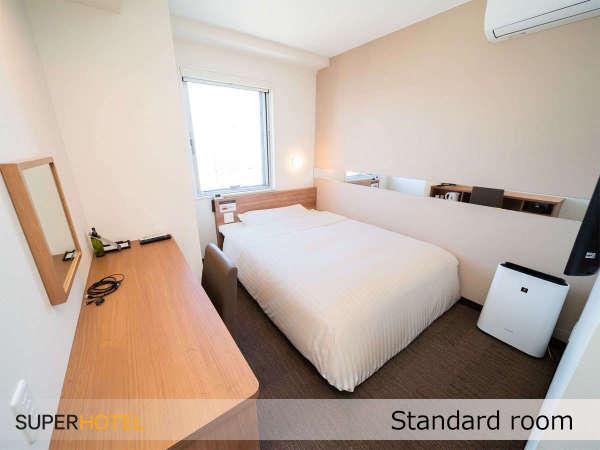 ■スタンダードルーム■眠りを追求した150cm幅とワイドベッドと適度な硬さのマットでぐっすり※イメージ