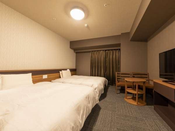 【ファミリーツイン◆25㎡】140㎝幅のベッドが2台ございます♪スーペリアツインよりもベッドが広いです。