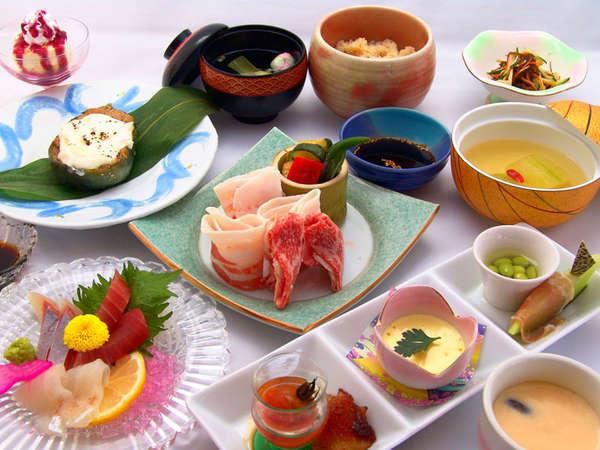 【夕食一例】季節の食材を使った会席料理