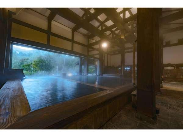 湯元源泉かけ流し温泉はみずばしょう温泉「古民家の湯」は新潟県から130年前の古民家を移築しました。