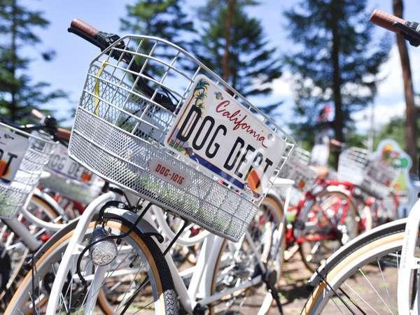 気候が良ければ無料レンタサイクルで軽井沢散策を。