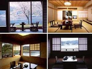 【客室】ゆったりとした和室でお寛ぎくださいませ。窓からは丹後の四季の移ろいをお楽しみいただけます。