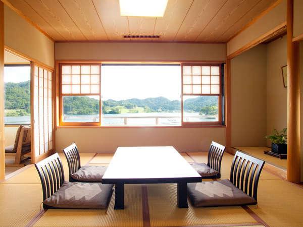 人気の二間続き眺めの良い松風のお部屋♪
