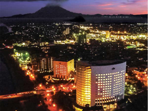 上空から臨むホテル京セラ