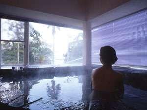 豊かな湯に浸かり、日々の疲れを癒して下さい(温泉館内風呂)