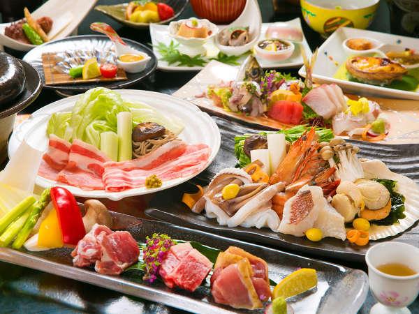 黒毛和牛、さつま地鶏、黒豚―。地元ブランド肉に舌鼓。朝獲れの≪旬魚≫はお造り、しゃぶしゃぶで―。