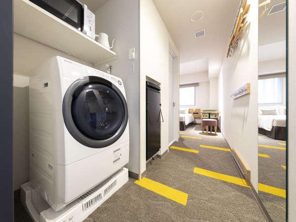 洗濯乾燥機&電子レンジ 全室に完備♪