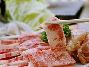やわらかな和牛のお肉をどうぞ!オープンデッキでバーベキューが出来るよ。