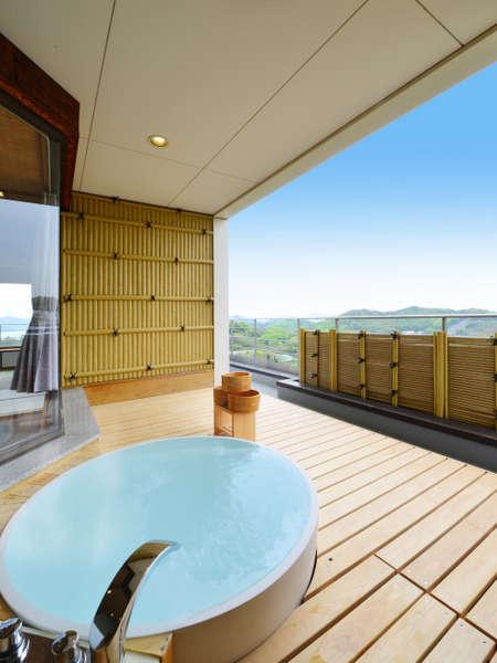 夕日の間:キャストストーン風呂にこの度新設いたしました。
