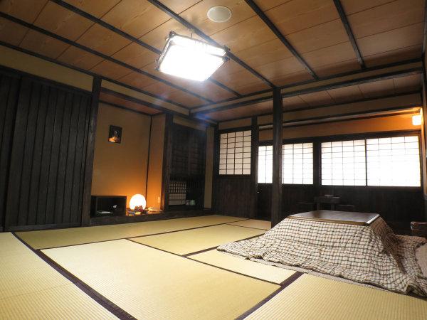*【新館客室】黒を基調とした民芸調の落ち着いた雰囲気のお部屋です