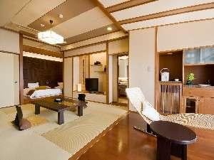 ■1室限定 270度の展望風呂付コーナースィート(倶楽部フロア-E:和洋室60㎡)