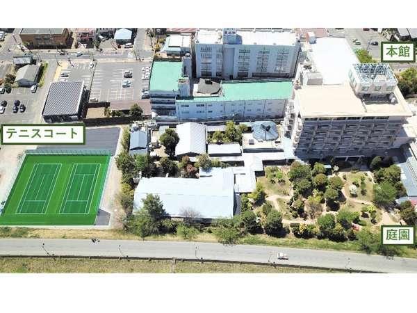 【信州の湯 清風園】テニスコート 5月1日 OPEN 屋外人工芝コート2面