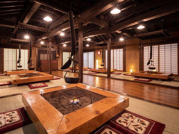 古民家を移築して建てた『囲炉裏茶屋』昔懐かしい雰囲気を味わいながら、佐世保の魚をお楽しみください