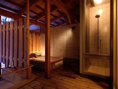 雲松庵、露天風呂つき客室のお湯は「西の河原」源泉