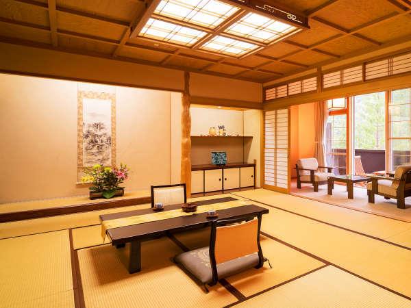 ■露天風呂つき特別和室■二間の広いお部屋のため、【三世代家族】にもオススメ!