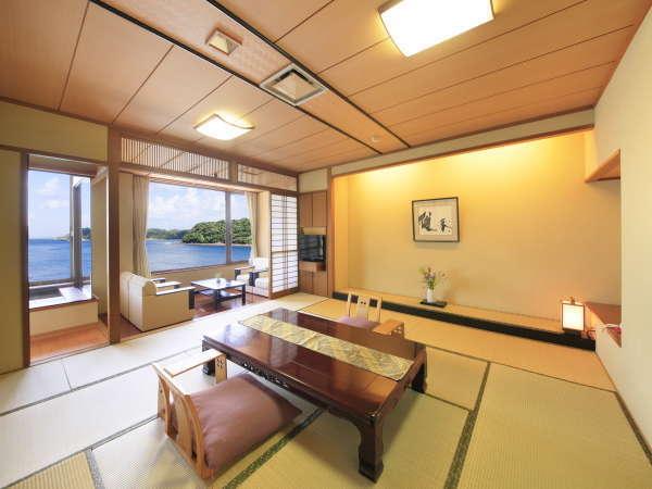 【別邸渚亭】当館でも最も人気のお部屋。ワイドビューバス付特別室。