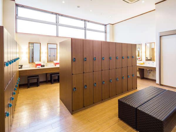 【大浴場・にぃふぁい湯】更衣室