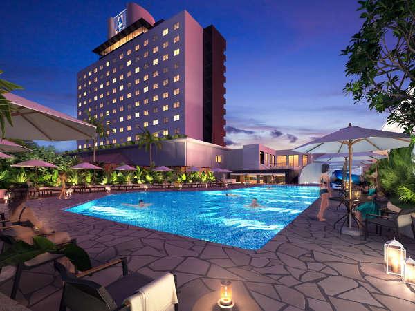 プールがリニューアルオープン!リゾートに都会らしさをくわえたアーバンリゾートテイストの空間へ